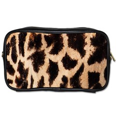 Yellow And Brown Spots On Giraffe Skin Texture Toiletries Bags 2-Side