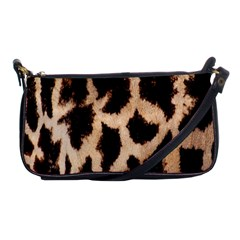 Yellow And Brown Spots On Giraffe Skin Texture Shoulder Clutch Bags