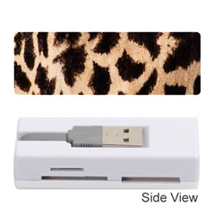Yellow And Brown Spots On Giraffe Skin Texture Memory Card Reader (Stick)