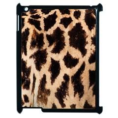 Yellow And Brown Spots On Giraffe Skin Texture Apple Ipad 2 Case (black)