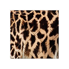 Yellow And Brown Spots On Giraffe Skin Texture Acrylic Tangram Puzzle (4  X 4 )
