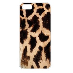 Yellow And Brown Spots On Giraffe Skin Texture Apple iPhone 5 Seamless Case (White)
