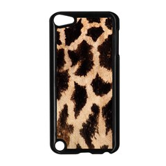 Yellow And Brown Spots On Giraffe Skin Texture Apple Ipod Touch 5 Case (black)