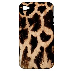 Yellow And Brown Spots On Giraffe Skin Texture Apple Iphone 4/4s Hardshell Case (pc+silicone)
