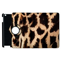 Yellow And Brown Spots On Giraffe Skin Texture Apple iPad 2 Flip 360 Case