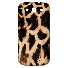 Yellow And Brown Spots On Giraffe Skin Texture Samsung Galaxy S3 S Iii Classic Hardshell Back Case