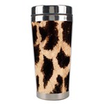 Yellow And Brown Spots On Giraffe Skin Texture Stainless Steel Travel Tumblers Center