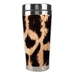 Yellow And Brown Spots On Giraffe Skin Texture Stainless Steel Travel Tumblers Right