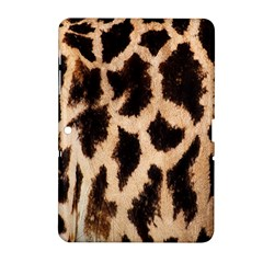 Yellow And Brown Spots On Giraffe Skin Texture Samsung Galaxy Tab 2 (10.1 ) P5100 Hardshell Case