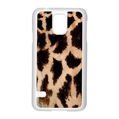 Yellow And Brown Spots On Giraffe Skin Texture Samsung Galaxy S5 Case (White)