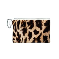 Yellow And Brown Spots On Giraffe Skin Texture Canvas Cosmetic Bag (S)