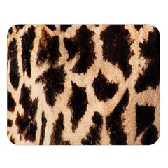 Yellow And Brown Spots On Giraffe Skin Texture Double Sided Flano Blanket (Large)