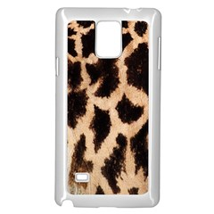 Yellow And Brown Spots On Giraffe Skin Texture Samsung Galaxy Note 4 Case (White)