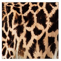 Yellow And Brown Spots On Giraffe Skin Texture Large Satin Scarf (square)