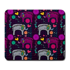 Love Colorful Elephants Background Large Mousepads