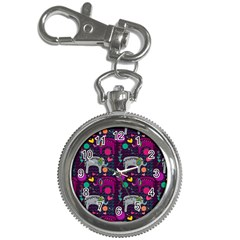 Love Colorful Elephants Background Key Chain Watches