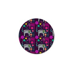 Love Colorful Elephants Background Golf Ball Marker (10 pack)