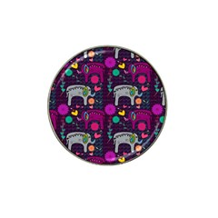Love Colorful Elephants Background Hat Clip Ball Marker