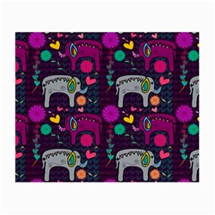 Love Colorful Elephants Background Small Glasses Cloth (2-Side)