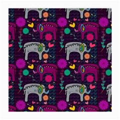 Love Colorful Elephants Background Medium Glasses Cloth