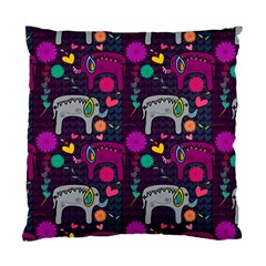 Love Colorful Elephants Background Standard Cushion Case (one Side)