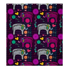 Love Colorful Elephants Background Shower Curtain 66  X 72  (large)