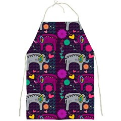 Love Colorful Elephants Background Full Print Aprons