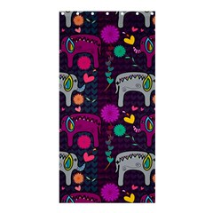Love Colorful Elephants Background Shower Curtain 36  X 72  (stall)