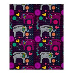Love Colorful Elephants Background Shower Curtain 60  x 72  (Medium)