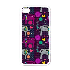 Love Colorful Elephants Background Apple iPhone 4 Case (White)