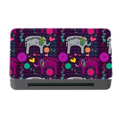 Love Colorful Elephants Background Memory Card Reader With Cf