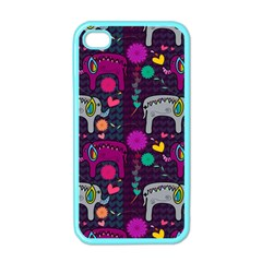 Love Colorful Elephants Background Apple iPhone 4 Case (Color)