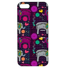 Love Colorful Elephants Background Apple iPhone 5 Hardshell Case with Stand