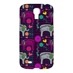 Love Colorful Elephants Background Samsung Galaxy S4 I9500/i9505 Hardshell Case