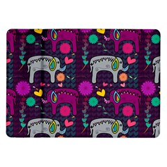 Love Colorful Elephants Background Samsung Galaxy Tab 10 1  P7500 Flip Case