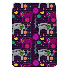 Love Colorful Elephants Background Flap Covers (L)
