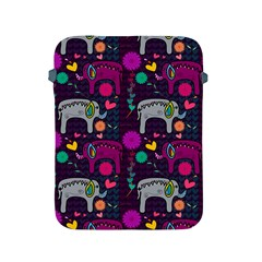 Love Colorful Elephants Background Apple iPad 2/3/4 Protective Soft Cases