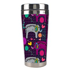 Love Colorful Elephants Background Stainless Steel Travel Tumblers