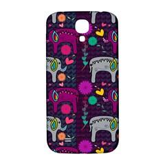 Love Colorful Elephants Background Samsung Galaxy S4 I9500/I9505  Hardshell Back Case