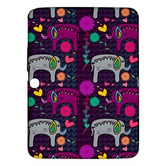 Love Colorful Elephants Background Samsung Galaxy Tab 3 (10 1 ) P5200 Hardshell Case