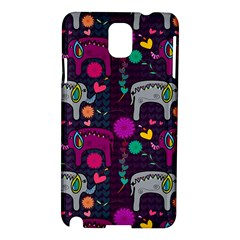 Love Colorful Elephants Background Samsung Galaxy Note 3 N9005 Hardshell Case