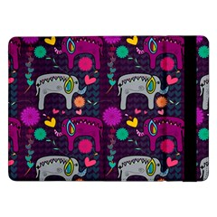 Love Colorful Elephants Background Samsung Galaxy Tab Pro 12.2  Flip Case