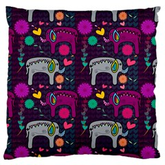 Love Colorful Elephants Background Standard Flano Cushion Case (One Side)