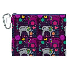 Love Colorful Elephants Background Canvas Cosmetic Bag (XXL)