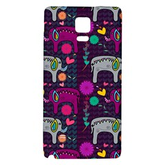 Love Colorful Elephants Background Galaxy Note 4 Back Case