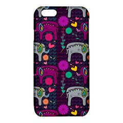 Love Colorful Elephants Background iPhone 6/6S TPU Case