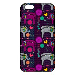 Love Colorful Elephants Background Iphone 6 Plus/6s Plus Tpu Case