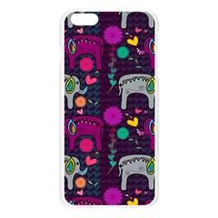 Love Colorful Elephants Background Apple Seamless iPhone 6 Plus/6S Plus Case (Transparent)