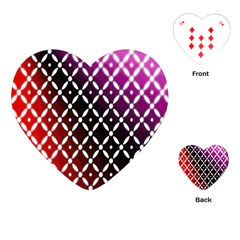Flowers Digital Pattern Summer Woods Art Shapes Playing Cards (Heart)