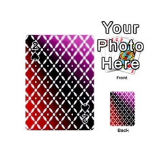 Flowers Digital Pattern Summer Woods Art Shapes Playing Cards 54 (Mini)